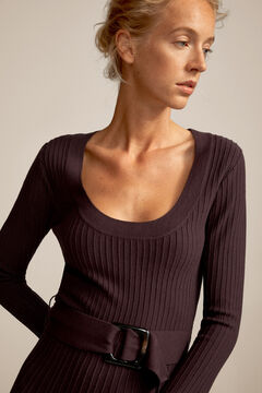 Pedro del Hierro Jersey-knit dress Brown
