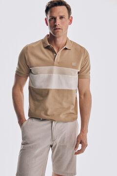 Pedro del Hierro Fantasy short-sleeved polo shirt Beige