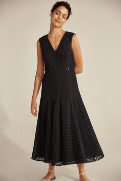 Pedro del Hierro V-neck dress  Black