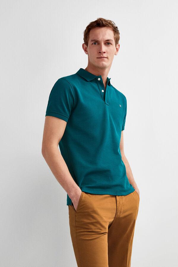 9521cf3de Pedro del Hierro Polo manga corta tailored fit Verde