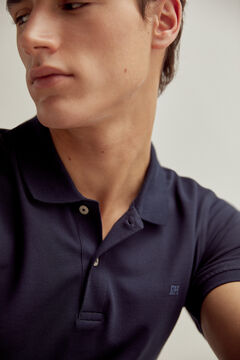 Pedro del Hierro Short-sleeved polo shirt with PdH logo Blue