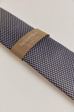Pedro del Hierro Micro textured tie Blue