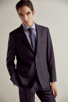 Pedro del Hierro Navy checked tailored fit blazer Blue