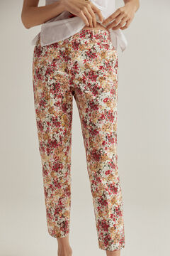 Pedro del Hierro Slim fit printed trousers Several