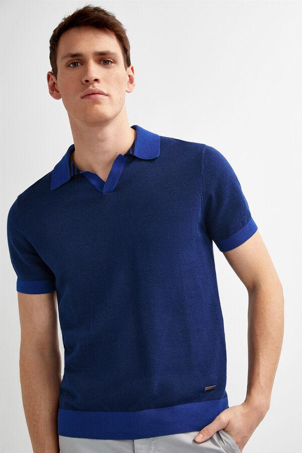 9e15a41bc5 Pedro del Hierro Polo tricot manga corta Azul