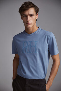 Pedro del Hierro Short-sleeved logo t-shirt Blue