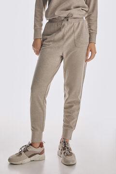 Pedro del Hierro Cut jersey-knit jogger trousers Grey