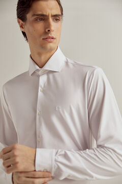 Pedro del Hierro Technical fabric slim dress shirt White