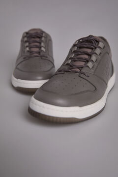 Pedro del Hierro Sneaker basket brushed skin Grey