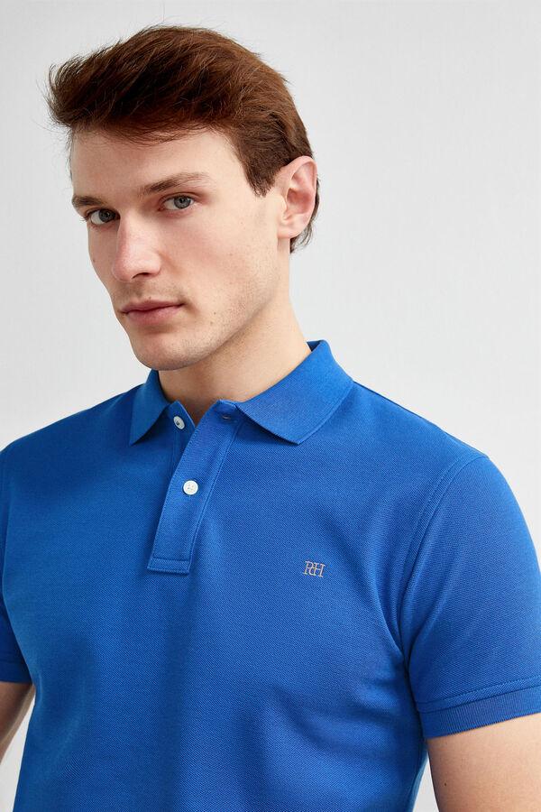 3486b0c595 Pedro del Hierro Polo manga corta tailored fit Azul