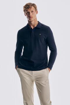 Pedro del Hierro Long-sleeved polo shirt Blue