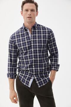 Pedro del Hierro Iconic checked shirt Blue