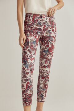 Pedro del Hierro Printed Lycra® push-up trousers Blue