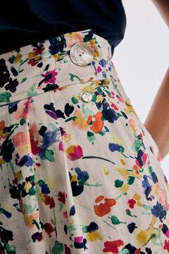 Pedro del Hierro Printed linen trousers Several