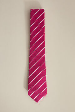 Pedro del Hierro Double bladed striped tie Pink