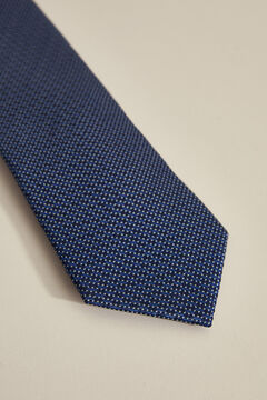 Pedro del Hierro Textured micro polka-dot tie Blue