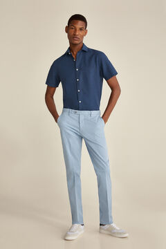 Pedro del Hierro Pima cotton chinos Blue