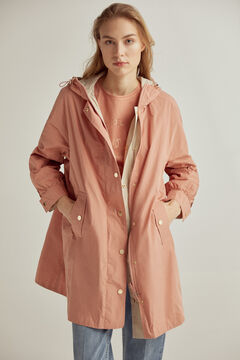 Pedro del Hierro Oversize reversible parka Red