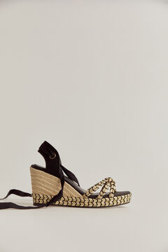 Pedro del Hierro Jute wedge shoe Black