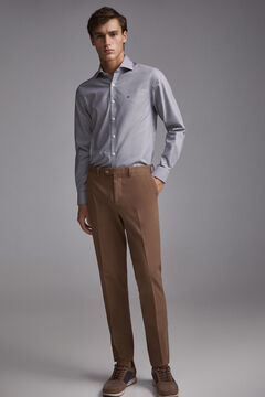 Pedro del Hierro Camisa de vestir Tech Non-Iron microcuadros tailored Grey