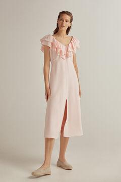 Pedro del Hierro Vestido lino viscosa Pink
