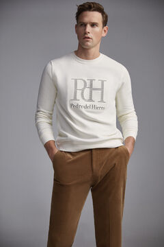 Pedro del Hierro Regular fit micro corduroy chinos Brown