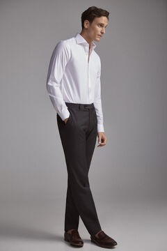 Pedro del Hierro Camisa de vestir lisa Tech-Non Iron tailored Blanco