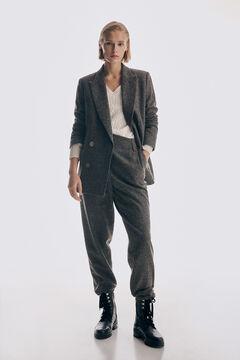 Pedro del Hierro High waist trousers Brown