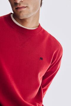 Pedro del Hierro Cotton crew neck jumper Red