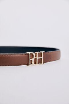 Pedro del Hierro Leather belt Black