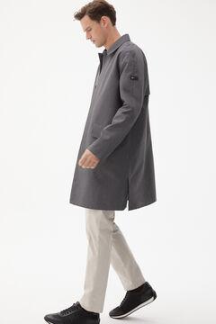 Pedro del Hierro Water resistant trench coat Grey