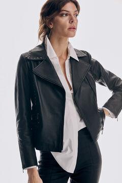 Pedro del Hierro Perfect studded nappa jacket Black