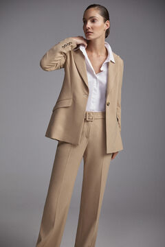 Pedro del Hierro Long-sleeved blazer Beige