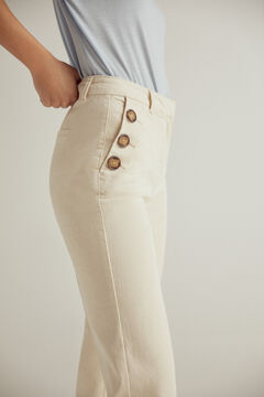 Pedro del Hierro Pantalón vaquero recto color denim natural Ecru