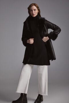 Pedro del Hierro Reversible leather coat Black
