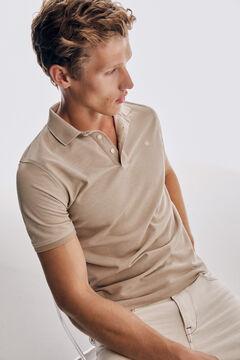 Pedro del Hierro Short sleeve polo shirt Beige