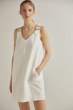 Pedro del Hierro Tunic dress with buckles White