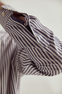 Pedro del Hierro Striped TX Protect shirt   Blue
