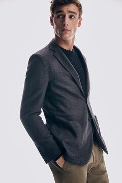 Pedro del Hierro Wool blazer Grey