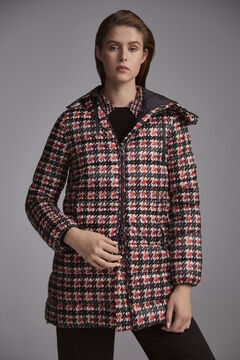 Pedro del Hierro Hooded printed parka Blue