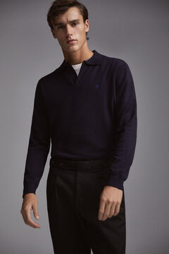 Pedro del Hierro Polo-neck jumper Blue