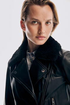 Pedro del Hierro Perfect nappa leather jacket Black