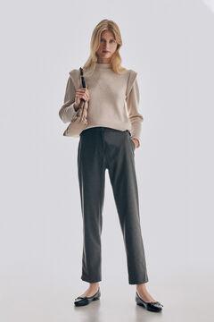 Pedro del Hierro Straight trousers Grey