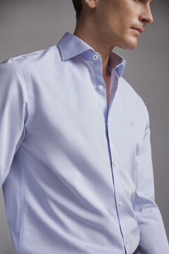 Pedro del Hierro Camisa de vestir lisa Tech-Non Iron tailored Azul