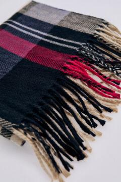 Pedro del Hierro Checked scarf Red