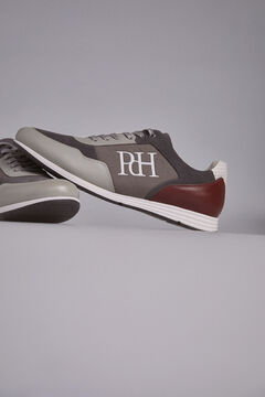 Pedro del Hierro Leather rubber-soled sneakers Grey