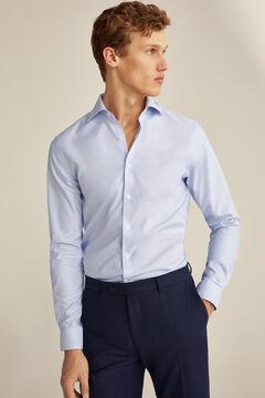 Pedro del Hierro Tailored Tech-Non Iron shirt Blue