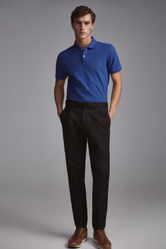 Pedro del Hierro Smooth polo shirt Blue