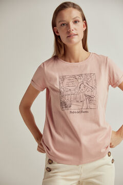 Pedro del Hierro Sustainable doll graphic t-shirt Pink