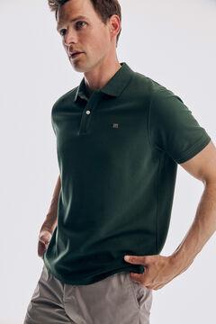 Pedro del Hierro Basic short sleeve polo shirt Green